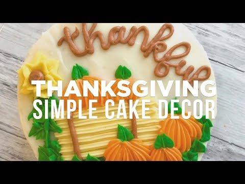 Thanksgiving Cake: Easy Decorating Idea with Banana Bakery