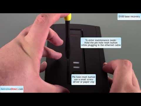 How to recover an Avaya D100 DECT System Base