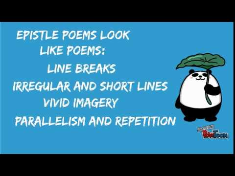 What Is Epistle Poetry?