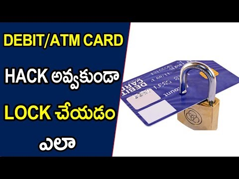 How to lock and Unlock debit card || Telugu Tech Tuts