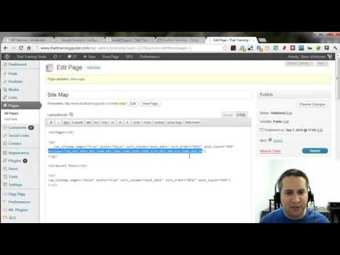 How to Create an HTML Site Map in WordPress