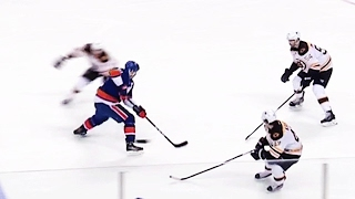 Tavares takes on three Bruins and still scores