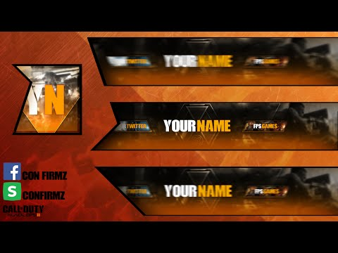 Template for Youtube | Call of duty black ops 3 Template (Photoshop)
