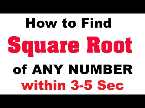 Shortcut Technique for finding Square Root | Calculate Square Roots in 3 Seconds in Mind