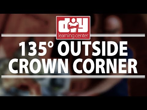 How to cut 135 degree outside crown molding corners