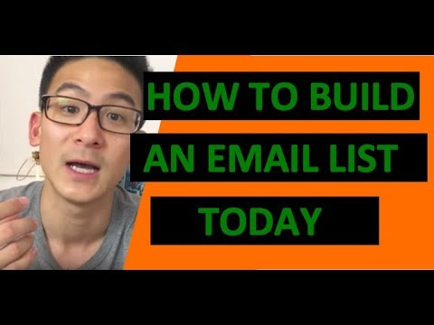 How To Build An Email List For Affiliate Marketing - Affiliate Marketing Training