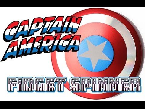 Metal Captain America Spiral Fidget Spinner
