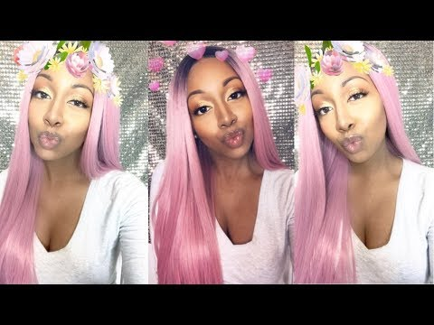 PINK KIM KARDASHIAN WIG | HOW TO FINESSE A SYNTHETIC WIG ($17)
