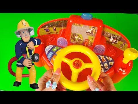 Fireman Sam Jupiter Fire Engine Driving Game Toys 2018
