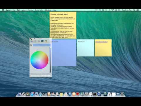 Antnotes - ultimate stickies for Mac OS X application usage.