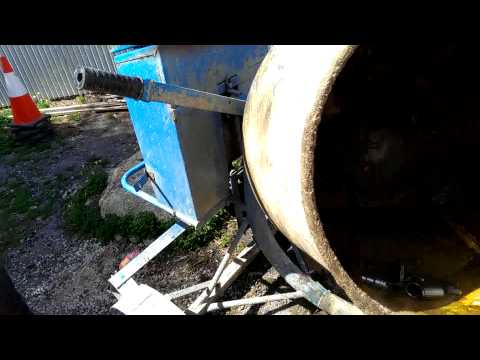 How to clean a concrete mixer with acid
