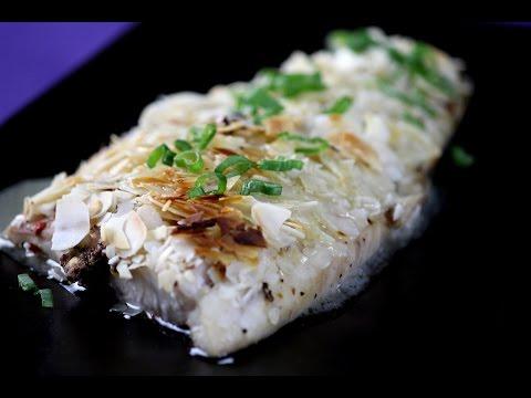 Almond Crusted Fish with Lemon Butter Sauce   Sanjeev Kapoor Khazana