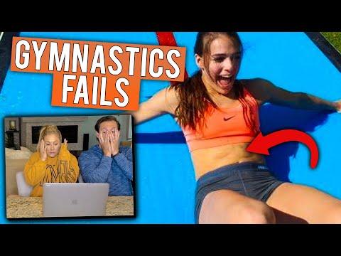 GYMNASTICS FAILS REACTIONS | Shawn Johnson