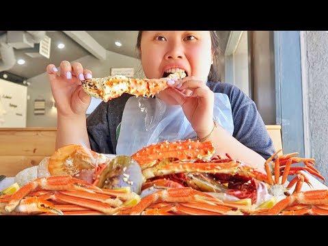 MUKBANG SEAFOOD BOIL! 먹방 (EATING SHOW!) KING CRAB + CRAWFISH + SHRIMP + MUSSELS