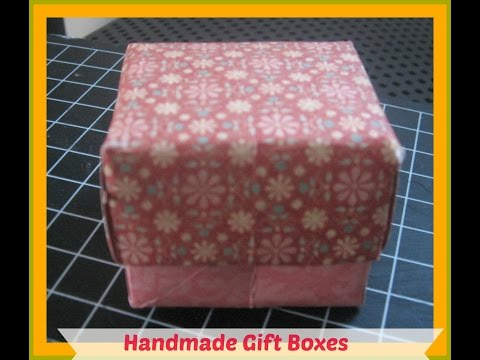 How to  Make your own gift box with lid/How to Make a Gift Box Out of Scrapbook Paper