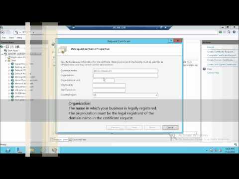Part 2: SSL Certificate - How to Generate or Create CSR Certificate Signing Request in IIS 8