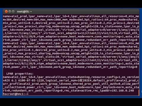 EZH - The Easy HMC Command Line Interface, Quick presentation and Demo.