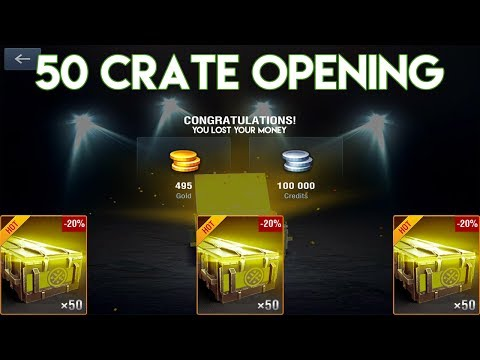 50 Complete Set Chests - Crate Opening || World of Tanks Blitz