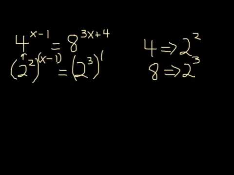 Solving Exponential Equations with the Same Bases