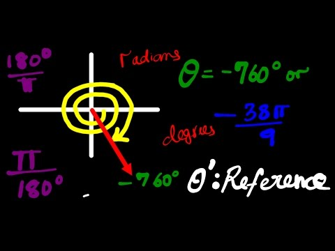 Radian degree angle conversion PrU4L3