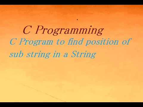 C Program to Find Substring Of String Without Using Library Function