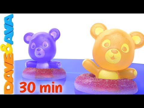 🙌 Five Little Gummy Bears | Counting Songs and Nursery Rhymes from Dave and Ava 🙌
