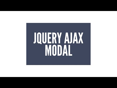 jQuery AJAX Modal/Lightbox Plugin: JavaScript (3/3)