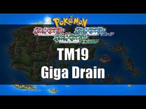 Pokemon Ruby/Sapphire/Emerald - Where to find TM19 Giga Drain