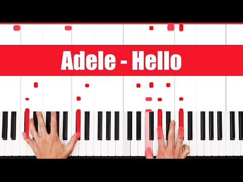 Hello Adele Piano Tutorial - EASY