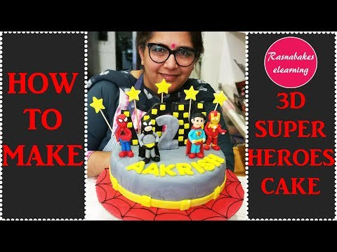 How To Make 3D Superheroes Cake: Cake decorating Tutorial