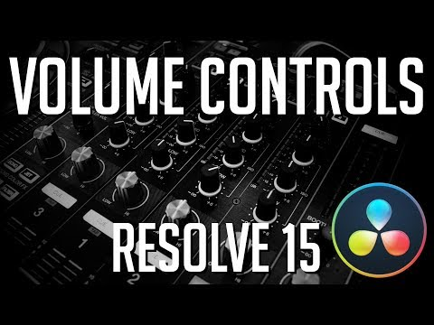How to Control Audio Volume Levels | DaVinci Resolve 15 Tutorial