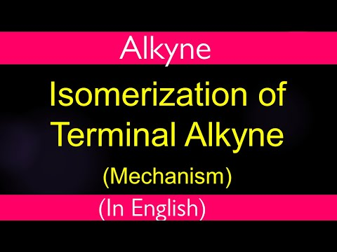 HYdrocarbon   terminal alkyne isomerises to internal alkyne