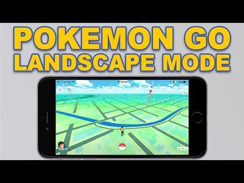 Play Pokemon GO in Landscape Mode GLITCH!!!