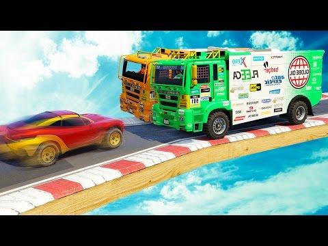 2 TRUCKS vs. 1 CAR! (GTA 5 Funny Moments)