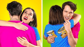 HOW TO HAVE FUN WITH FRIENDS || 21 Hacks to Get Snacks, Makeup and Pets into a Party