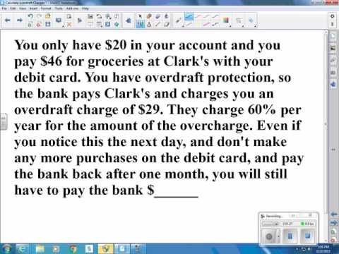 Calculate overdraft charges video