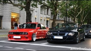 BMW M6 vs M3 E30 - LAUNCH CONTROL - CRAZY SOUND WITH CUSTOM PIPES