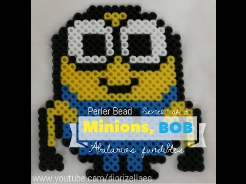 Perler Bead Bob The Minion Series 1 of 3 by Diorizella Events and Crafts