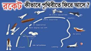 রকেট কিভাবে মহাকাশ থেকে পৃথিবীতে ফিরে আসে | SPACE SCIENCE OF ROCKET in Bangla