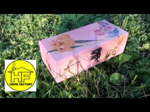HOW TO DECOUPAGE WOODEN BOX  * Lana's box *