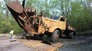 Moving an old dump truck