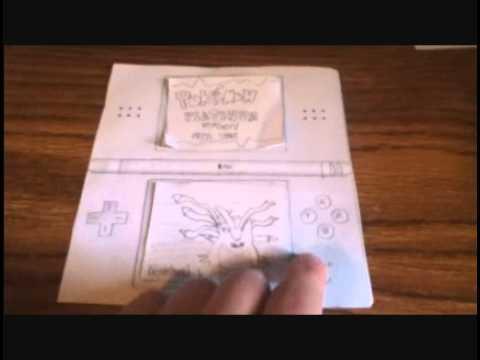 Pokemon platinum on paper ds