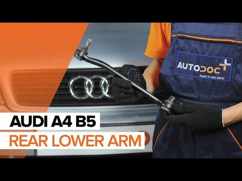 How to replacerear lower armonAUDI A4 B5[TUTORIAL]