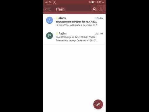 how to clear trash in gmail android app