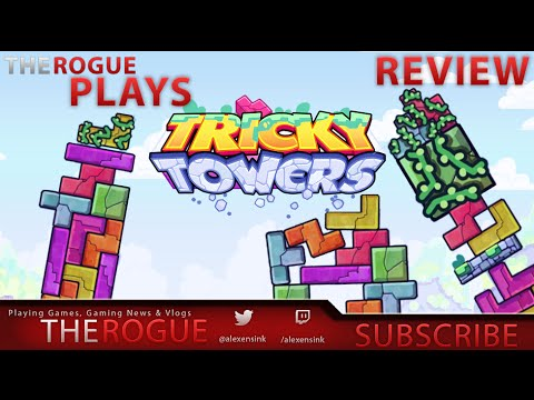 Toppling Tetrominoes In Tricky Towers - The Rogue Plays Tricky Towers FTCyberio - PsPlus PS4 Freebie