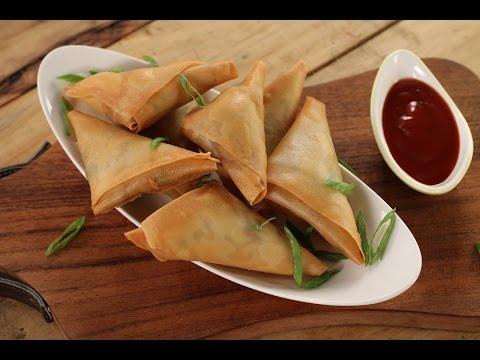 Chinese Chicken Samosa | Sanjeev Kapoor Khazana