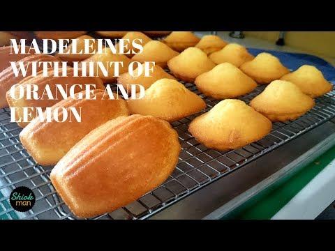 Shiokman Madeleines with hint of Orange and Lemon