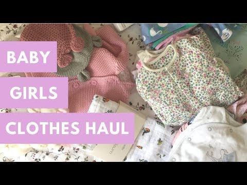 FIRST BABY GIRL CLOTHES HAUL!