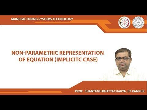 Non-parametric representation of equation (Implicitc case)