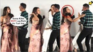 Sonakshi Singh SLAPS Akshay Kumar For Making FUN Of Her Look At Mission Mangal Trailer Launch
